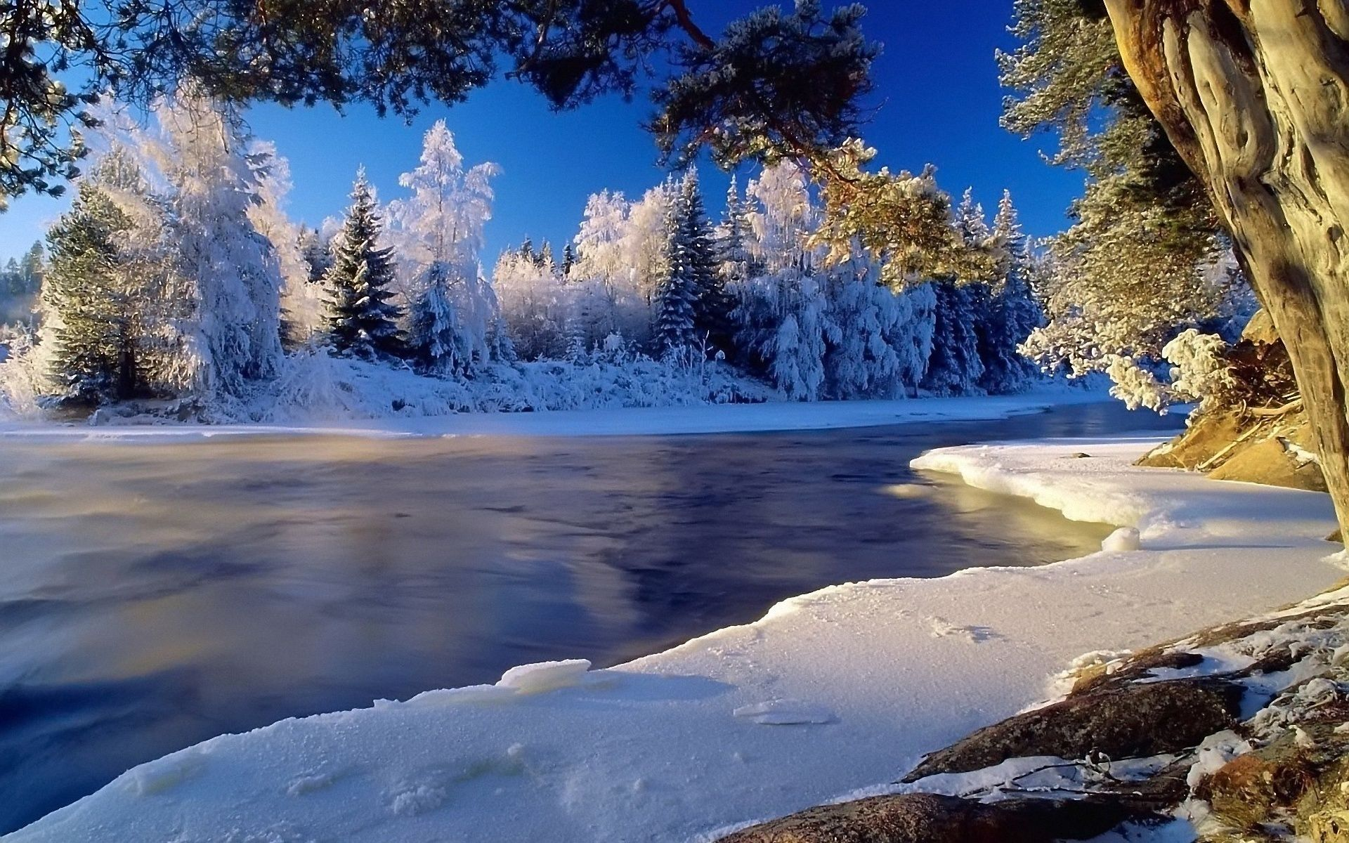 Winter Landscape Desktop Backgrounds Free | HD4Wallpaper.net