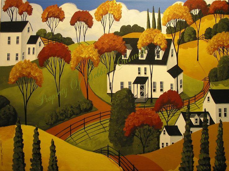 Country Folk Art Wallpaper Wallpapersafari