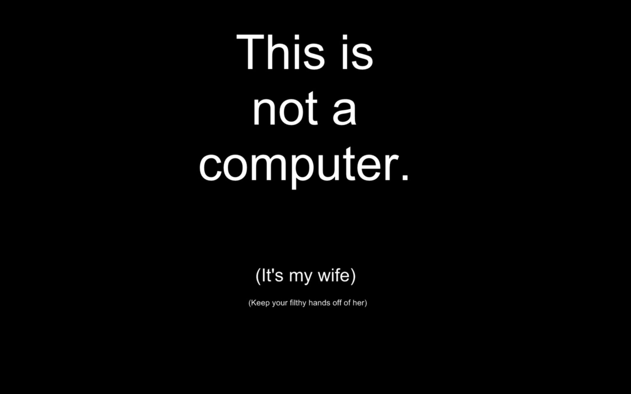 Wife Computer Funny Wallpaper Desktop HD Wallpaper   Download 2112x1320