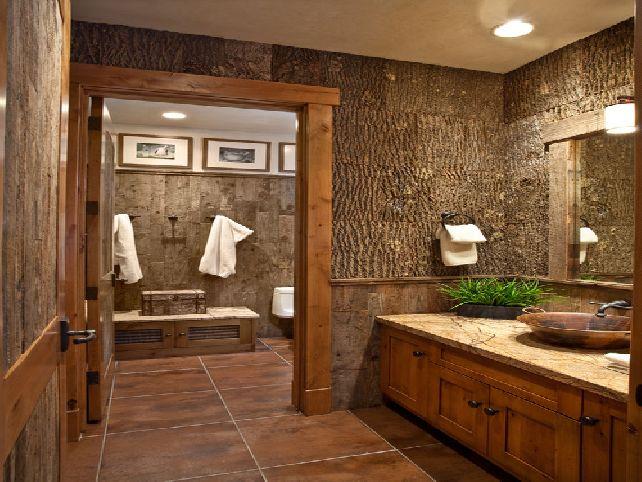 Rustic Bathroom Wallpaper Wallpapersafari