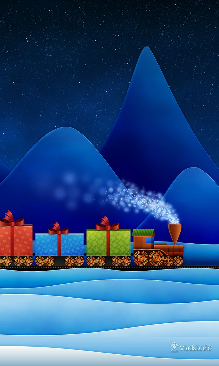 Christmas Village Train Set