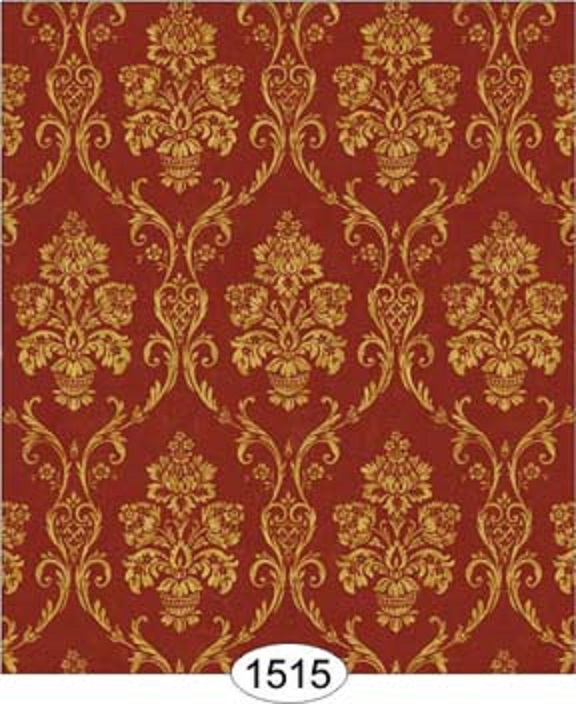 Details about Dollhouse Miniature Wallpaper Camilla Damask in Gold on 576x704