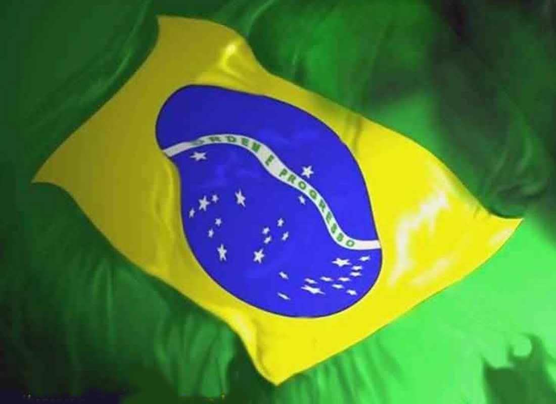 Graphics Background Image Wallpaper of Brazilian Flag 1100x800