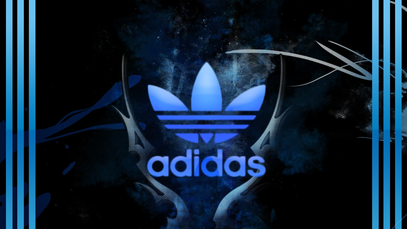 Adidas Logo Wallpapers Neon Hd Images amp Pictures   Becuo 1366x768