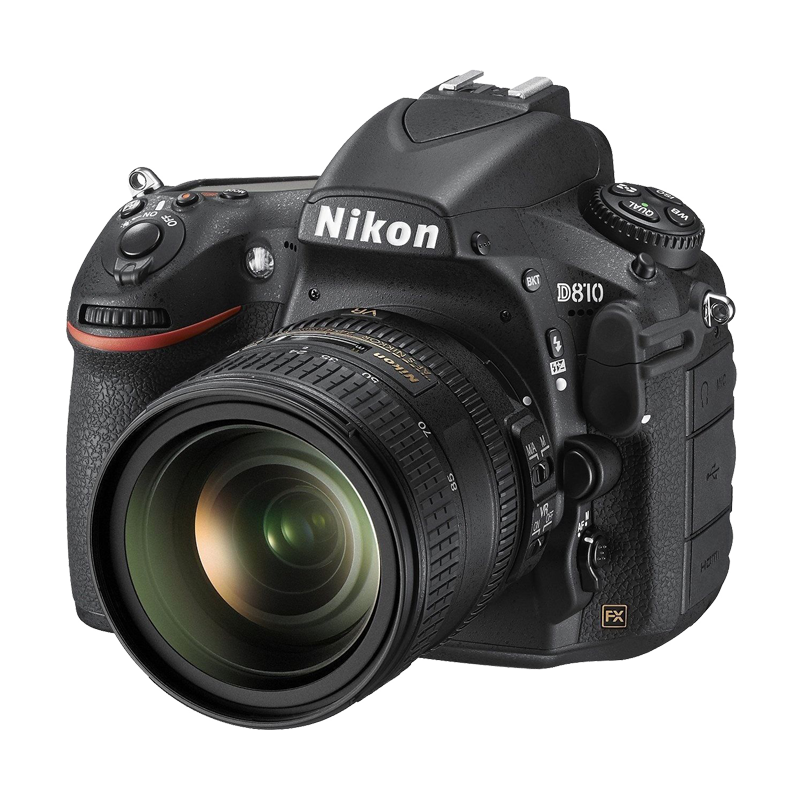 Nikon D810 SLR camera front view transparent image Png Images 800x800