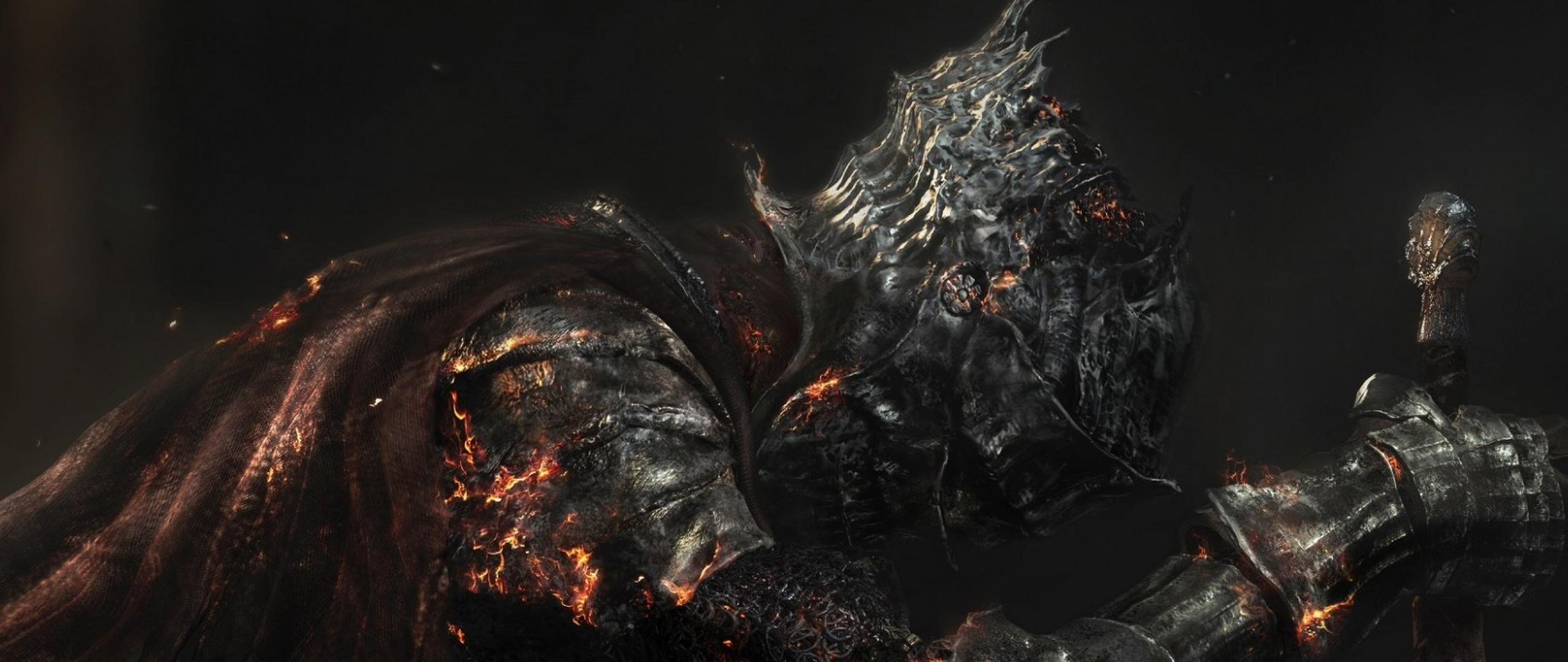 Dark Souls 3 iii Dark Souls 3 Armor Burning Skeleton Sword 2560x1080