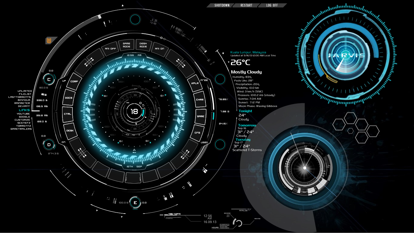 Free Download Hi Tech My First Rainmeter On Windows 8 Pro X64 By