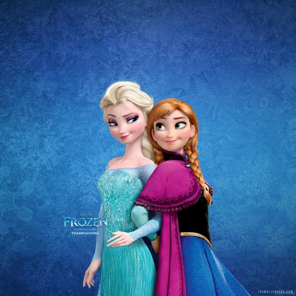 Frozen Wallpaper Elsa And Anna Anna elsa sisters hd wallpaper 1024x1024