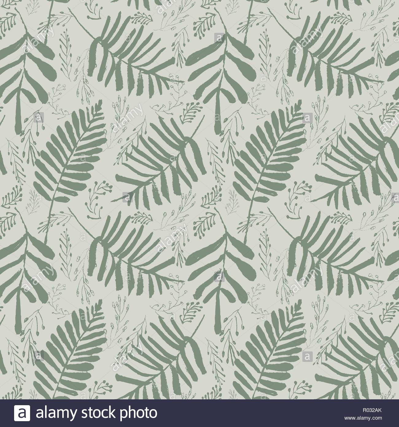 Sophisticated vector green tropical leaves seamless pattern on 1300x1390