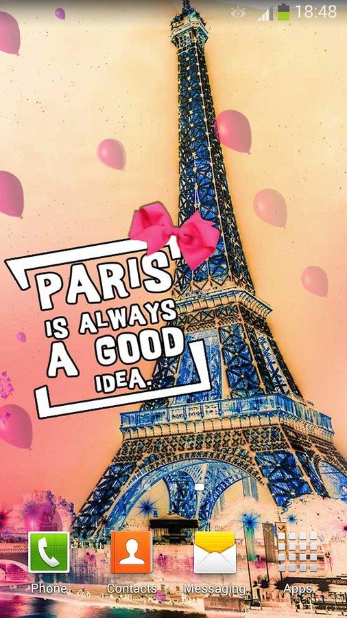 Cute paris france wallpaper wallpapersafari for Fond ecran paris