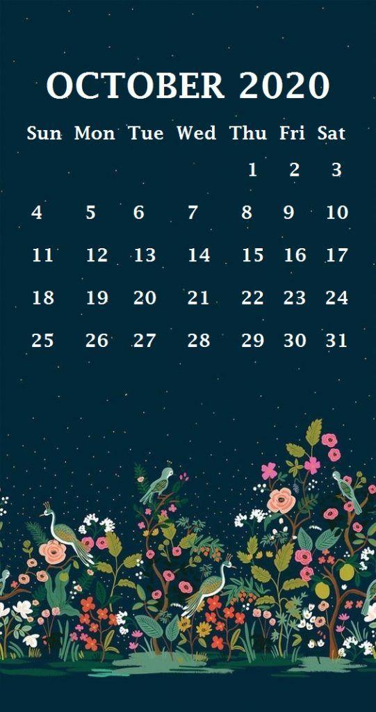 iPhone October 2020 Calendar Wallpaper October wallpaper 541x1024