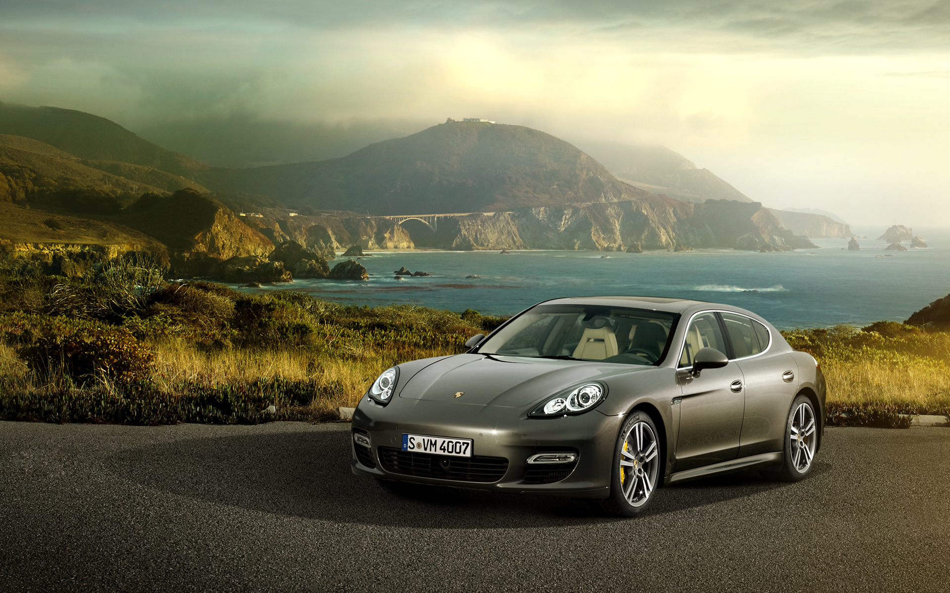 Porsche Panamera Turbo HD Wallpaper Background Images 1920x1200