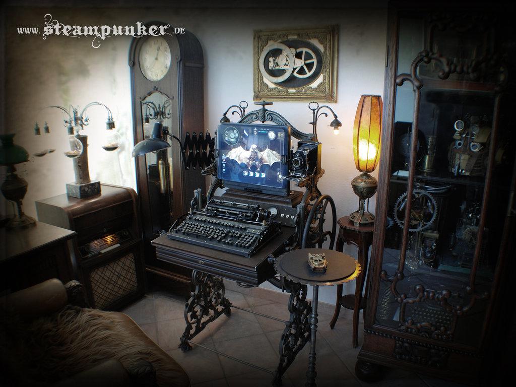 Steampunk Computer Steampunk Room by steamworker 1024x768