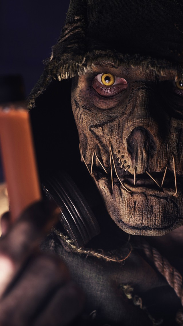 Arkham Knight Wallpaper OS Batman Arkham Knight skull scarecrow 640x1138