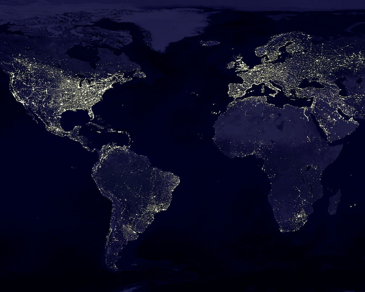 40 Earth At Night Wallpaper Hd On Wallpapersafari