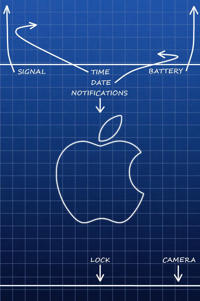 Apple Lock Screen iPhone Wallpaper HD 640x960