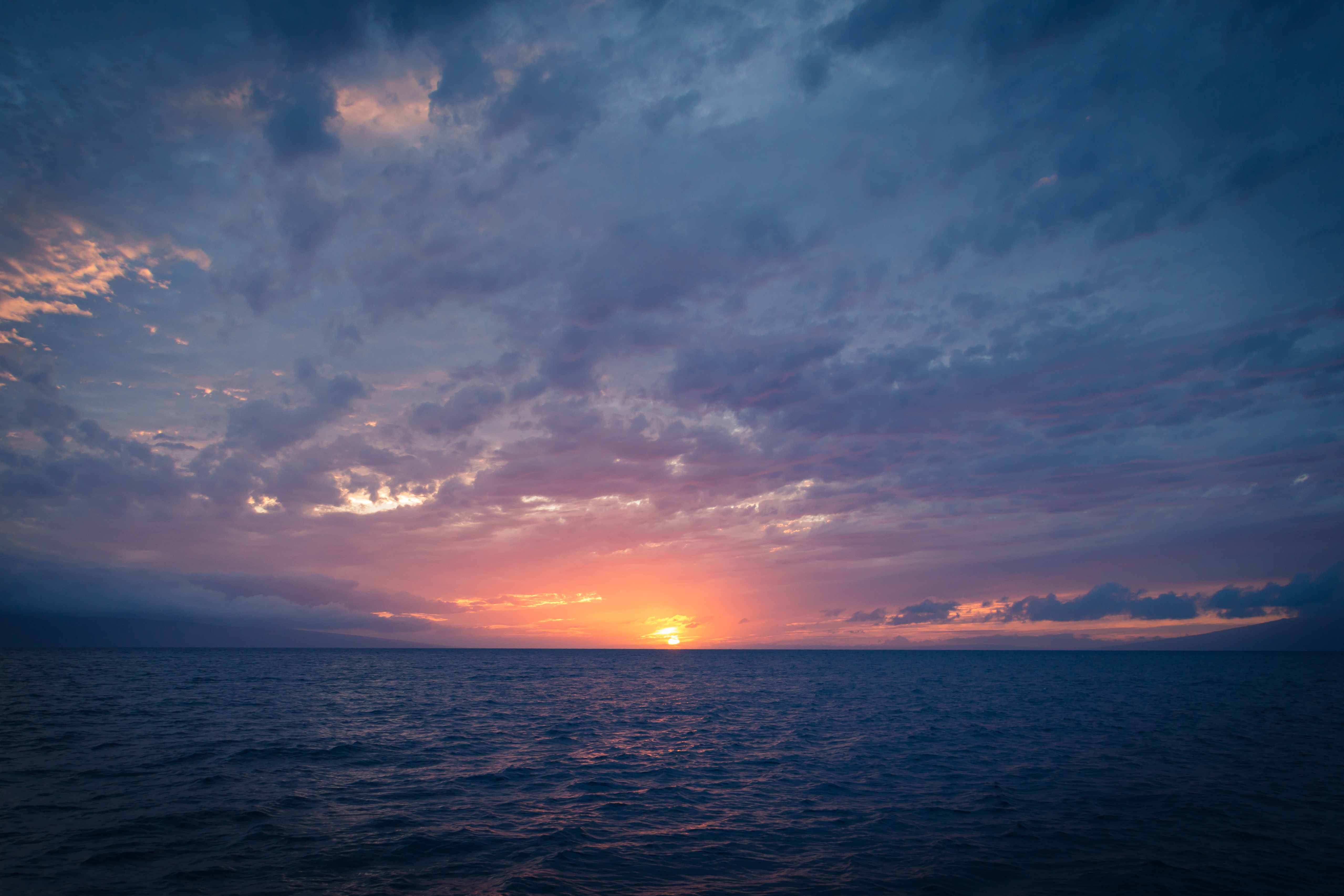 HD Wallpaper Ocean sunset off the Kaanapali coast Maui HI 5116x3411