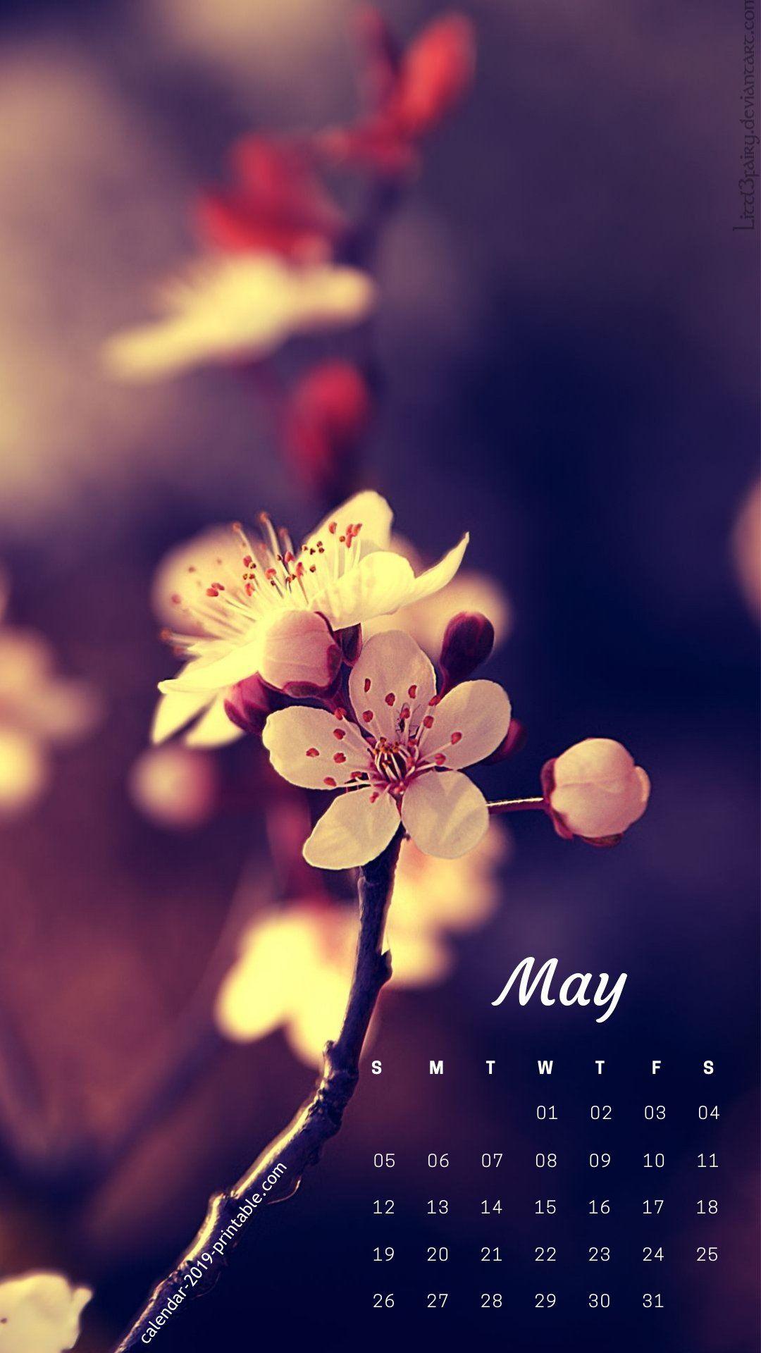 may 2019 iphone calendar flower wallpaper 2019 Calendars in 2019 1080x1920