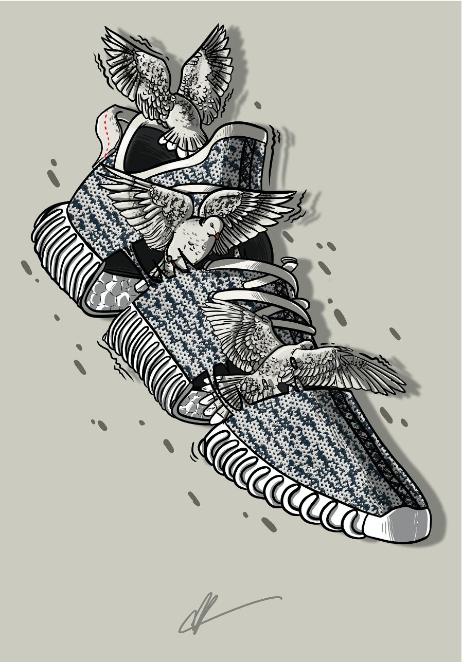 Sneaker Art Kanye Yeezy 350 Turtledove Sneaker Art. ← Yeezy Wallpapers
