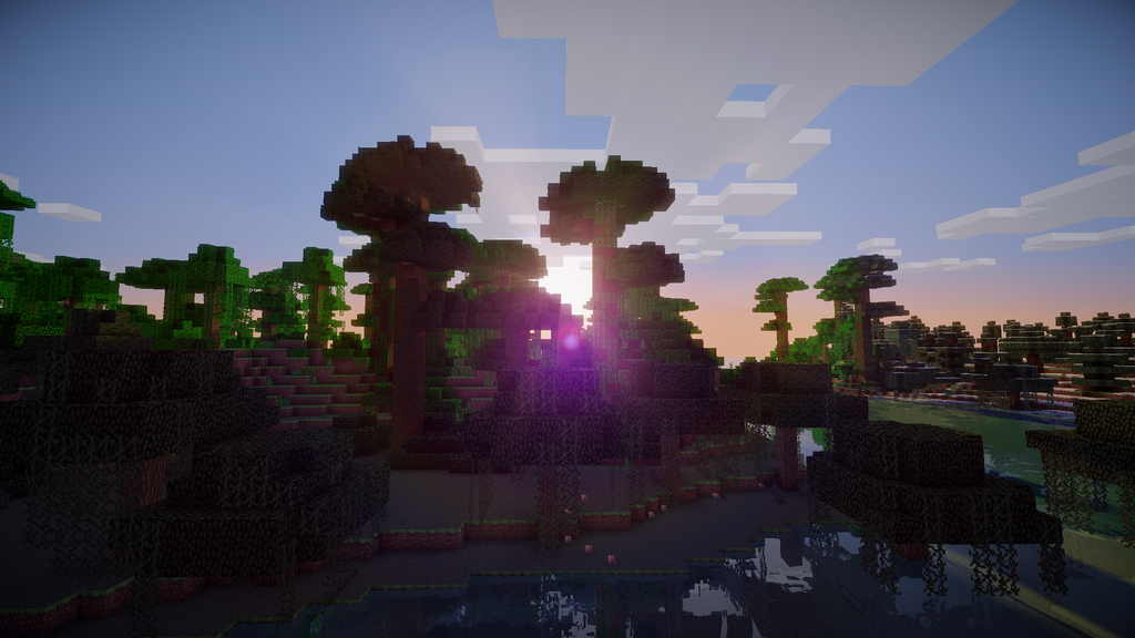 Minecraft Background Shaders Hd Wallpaper 1080p 1024x576