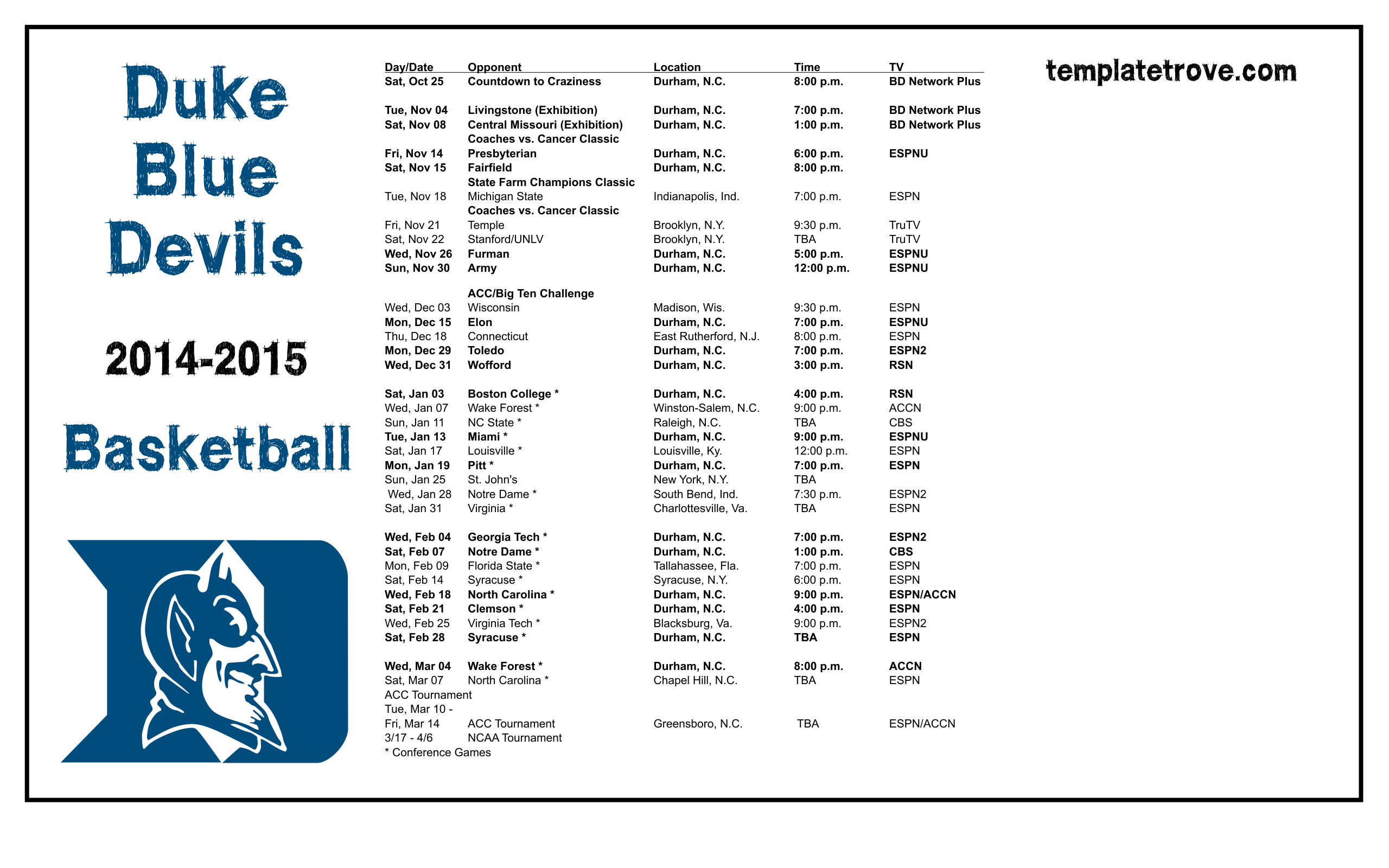 picture relating to Duke Basketball Schedule Printable named 49+] Duke Basketball 2015 Championship Wallpaper upon