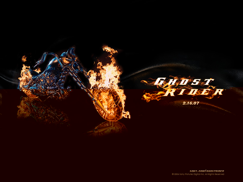 Blue Ghost Rider Wallpaper Ghost rider 2 movie wallpaper 1024x768