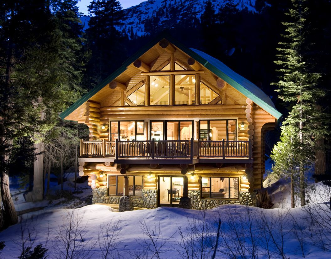 Winter Log Cabin Android Wallpapers 1055x827