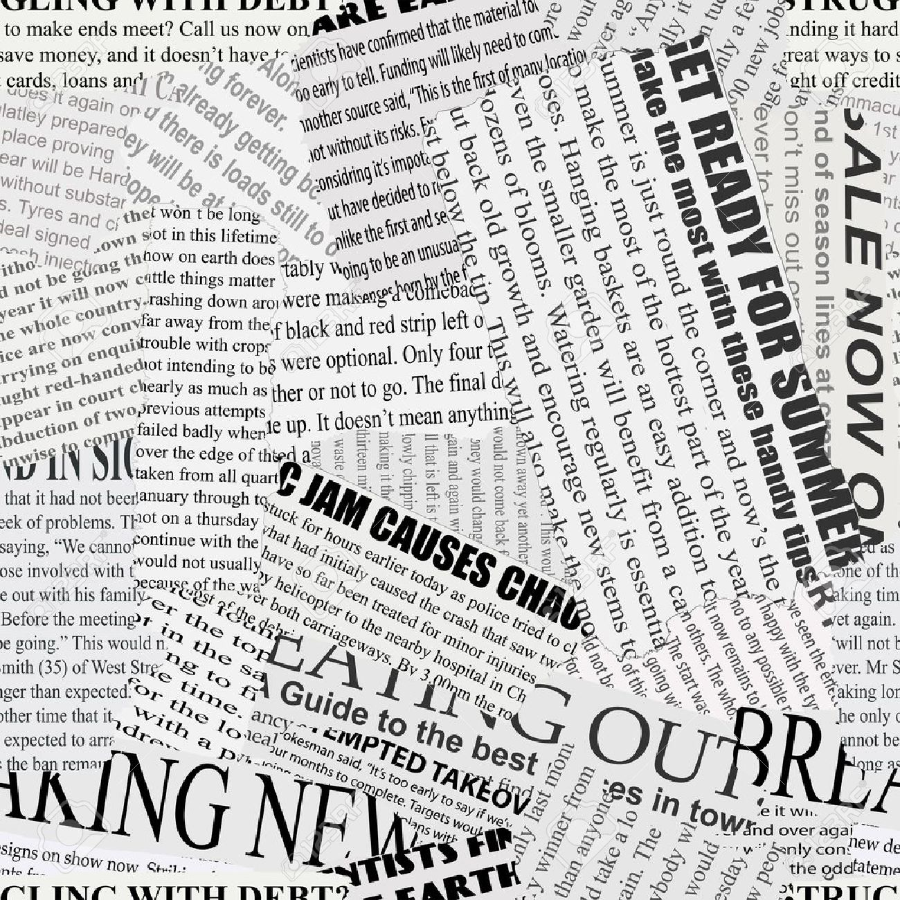 Black And White Repeating Torn Newspaper Background Royalty 1300x1300