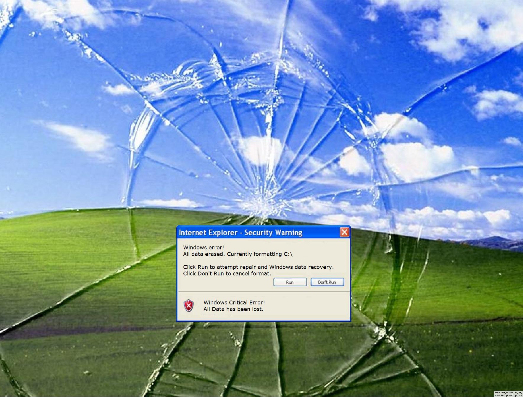 funny broken computer screen prank imagestack