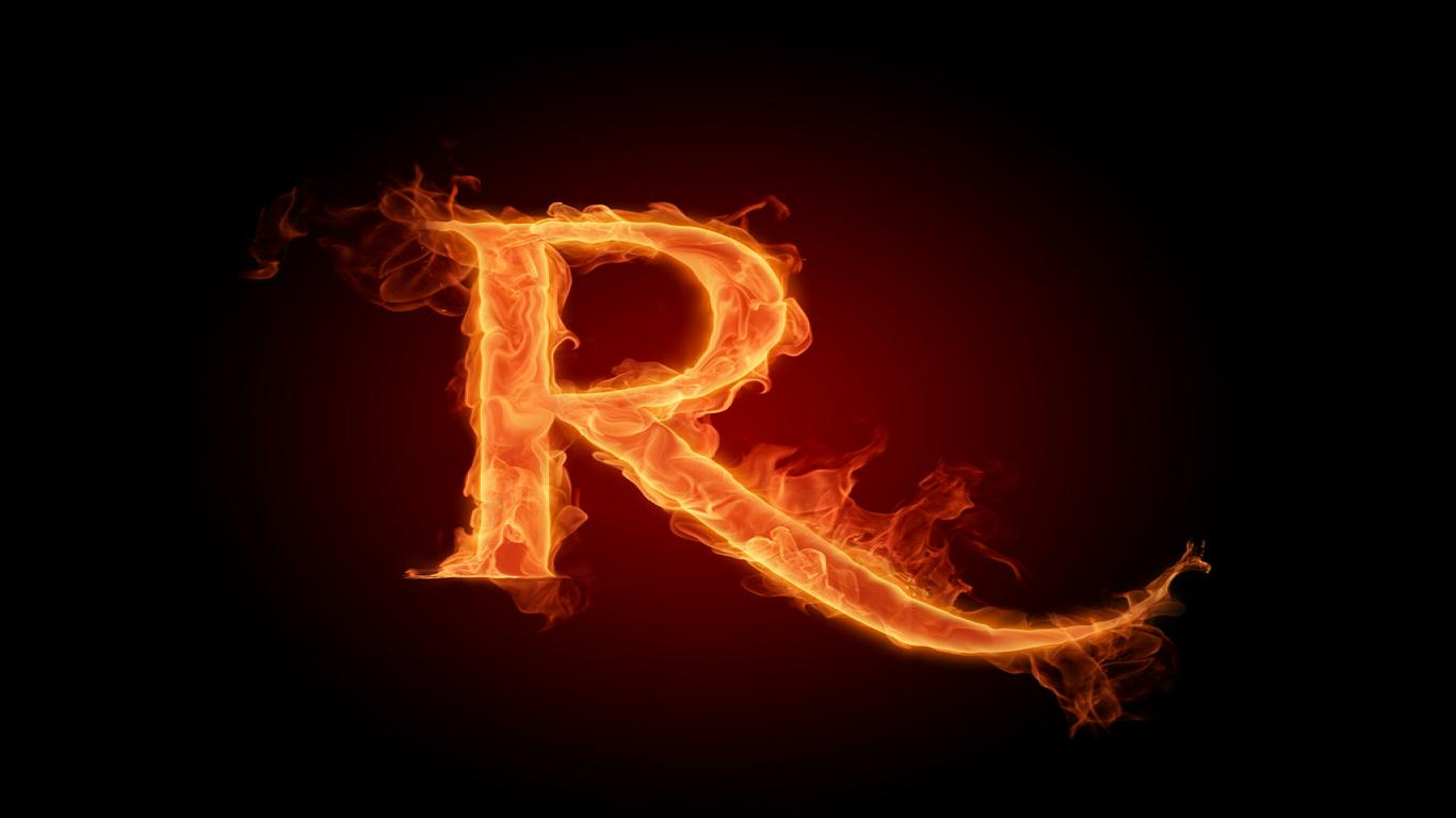 Wallpapers for letter r 1366x768
