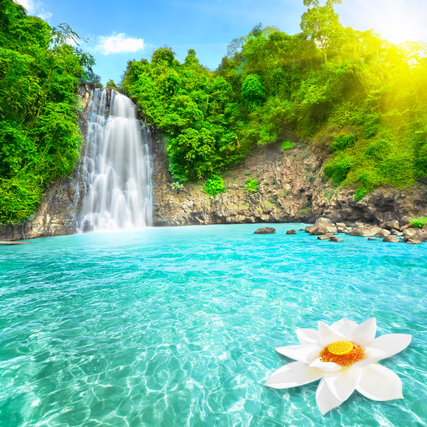 Beautiful Waterfall HD Wallpaper Nature Wallpapers 1400x1400