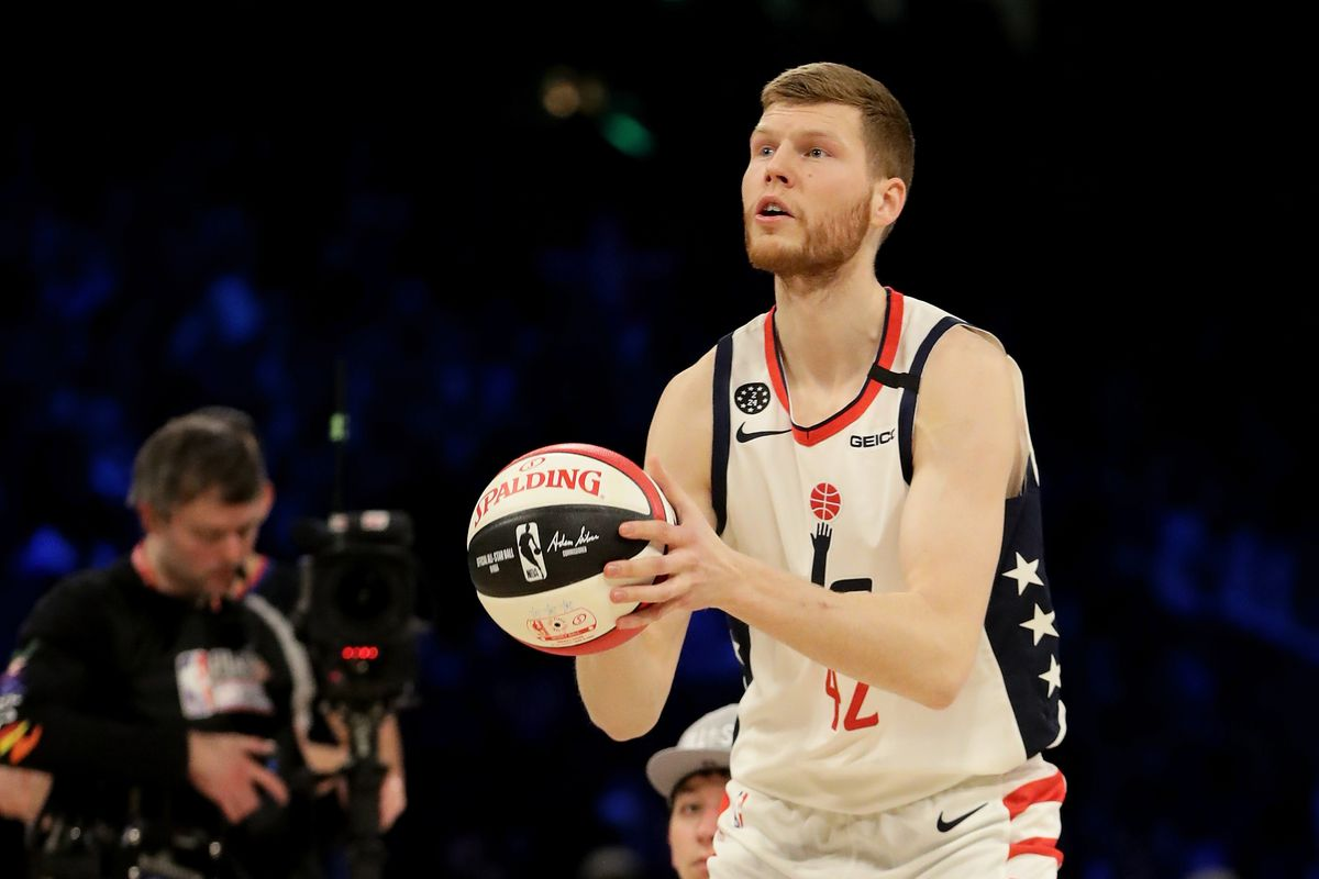 2020 NBA 3 Point Contest Wizards Davis Bertans finishes 3rd 1200x800