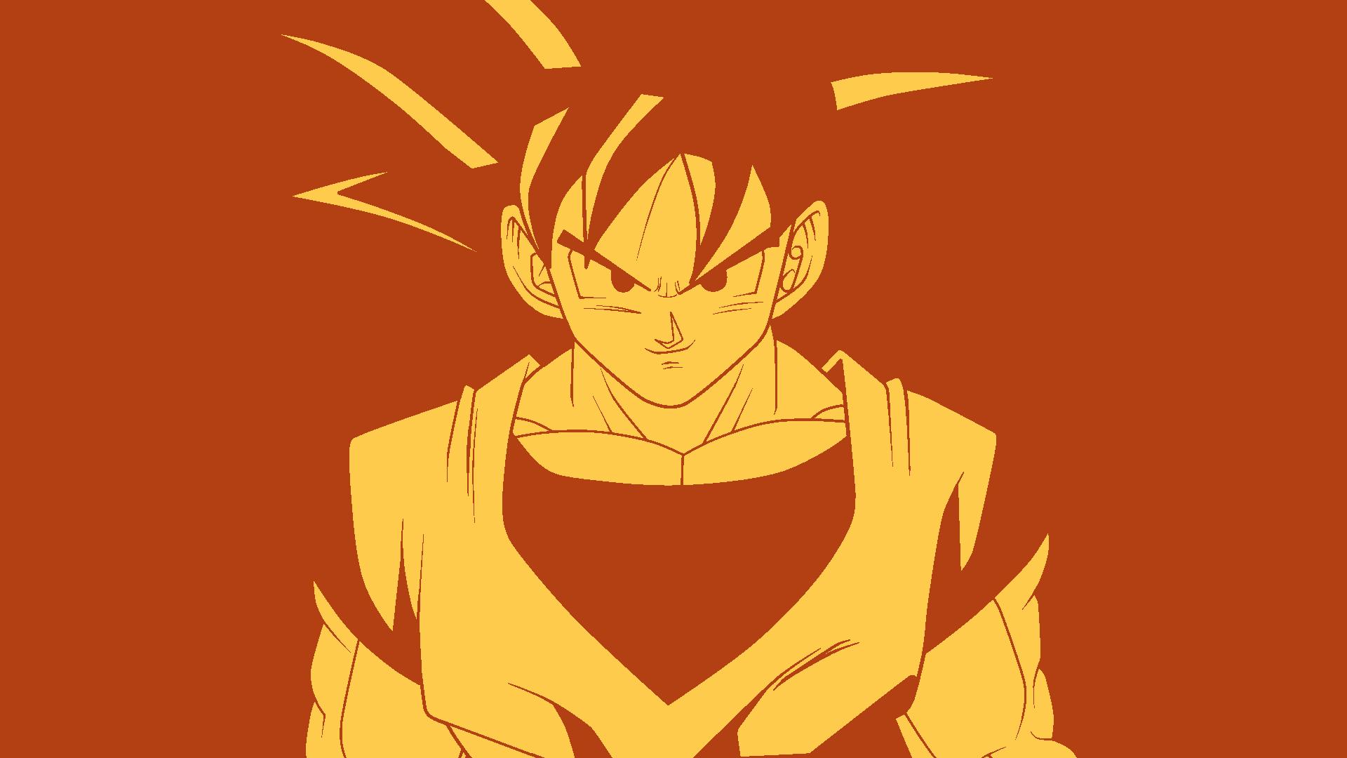 Son Goku   Minimalist Wallpaper HD by oracionscruffy on 1920x1080