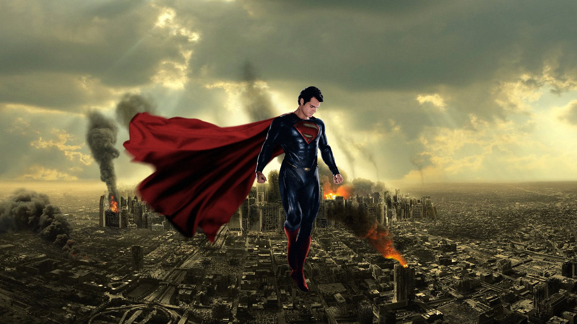 Man Of Steel Superman 2013 by Loganchico HD Wide Wallpaper ...