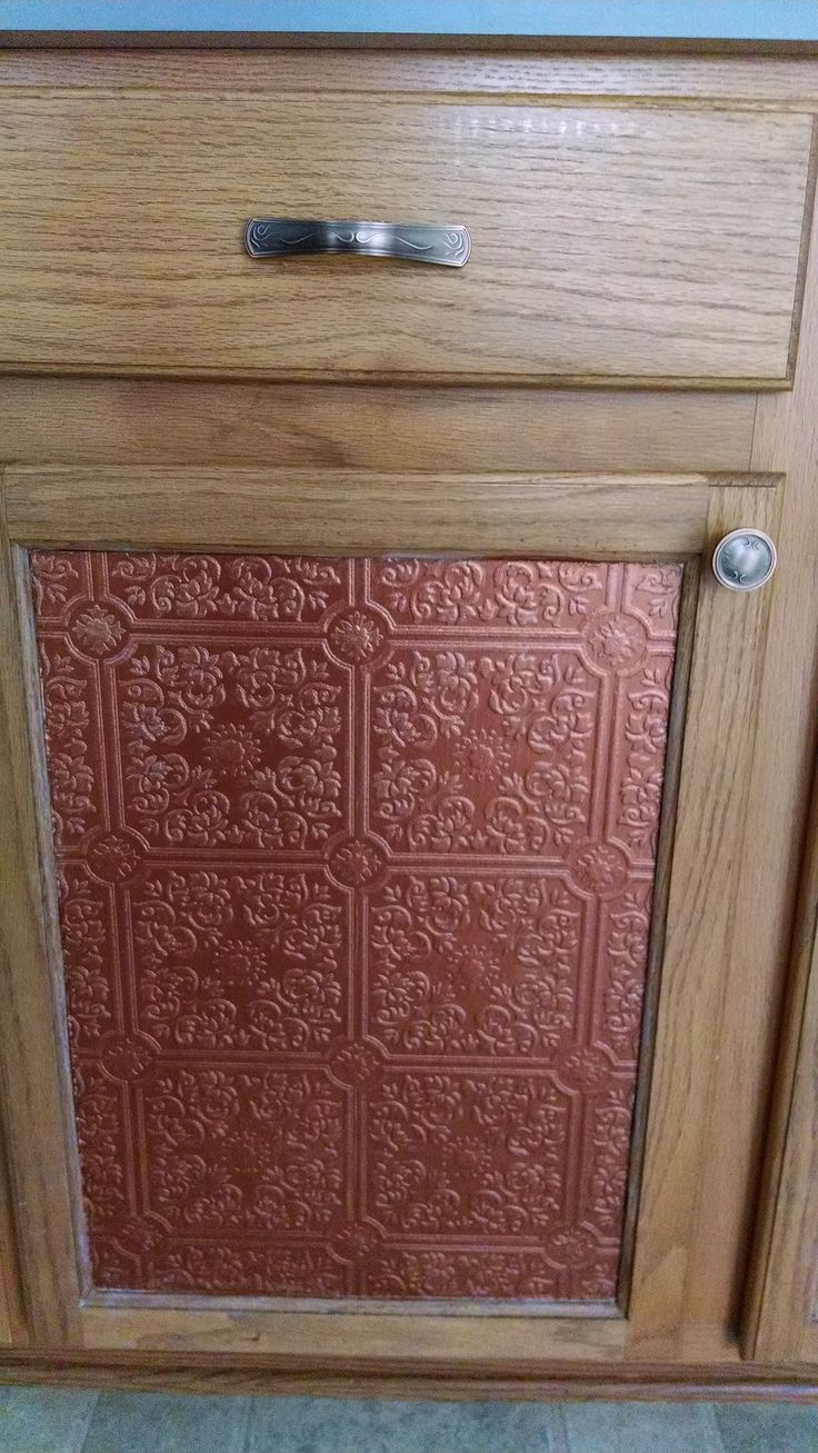 door in prepasted pressed tin wallpaper can change the whole look 736x1307