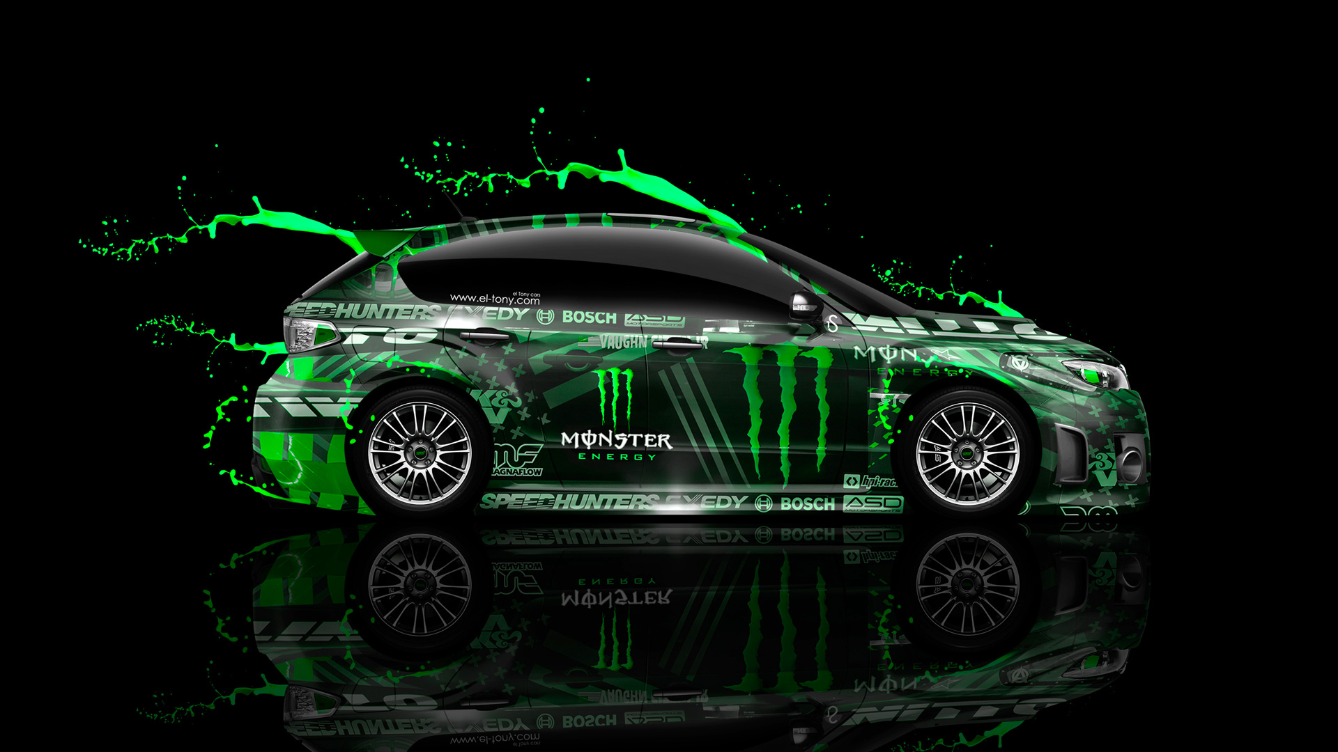 Free Download Monster Energy Subaru Impreza Wrx Sti Jdm Side Green Live Colors Car 1920x1080 For Your Desktop Mobile Tablet Explore 49 Monster Energy Wallpaper Car Monster Energy Wallpaper
