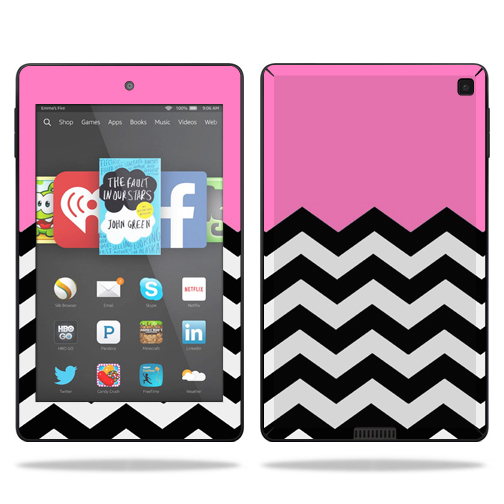 Skin Decal Wrap for Amazon Kindle Fire HD 6 sticker Pink Chevron 504x504