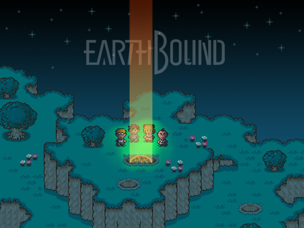 earthbound wallpaper new by jhroberts 1032x774