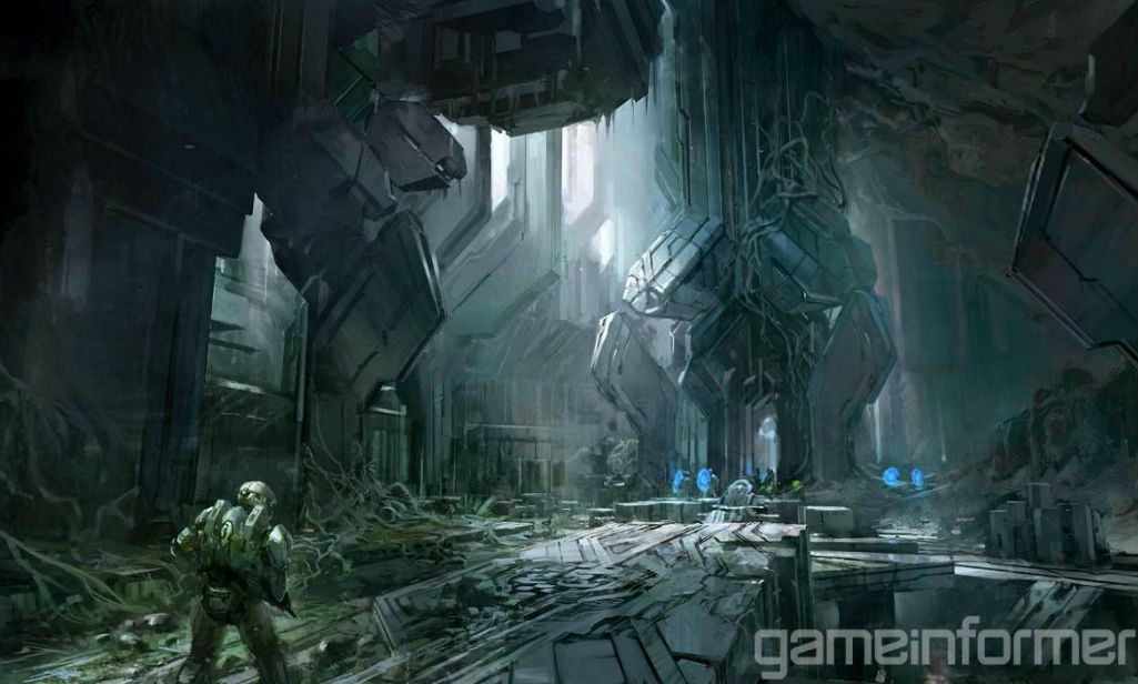 HALO 4 Wallpaper Concept ART Image POSTER HD Zeromin0 1025x616