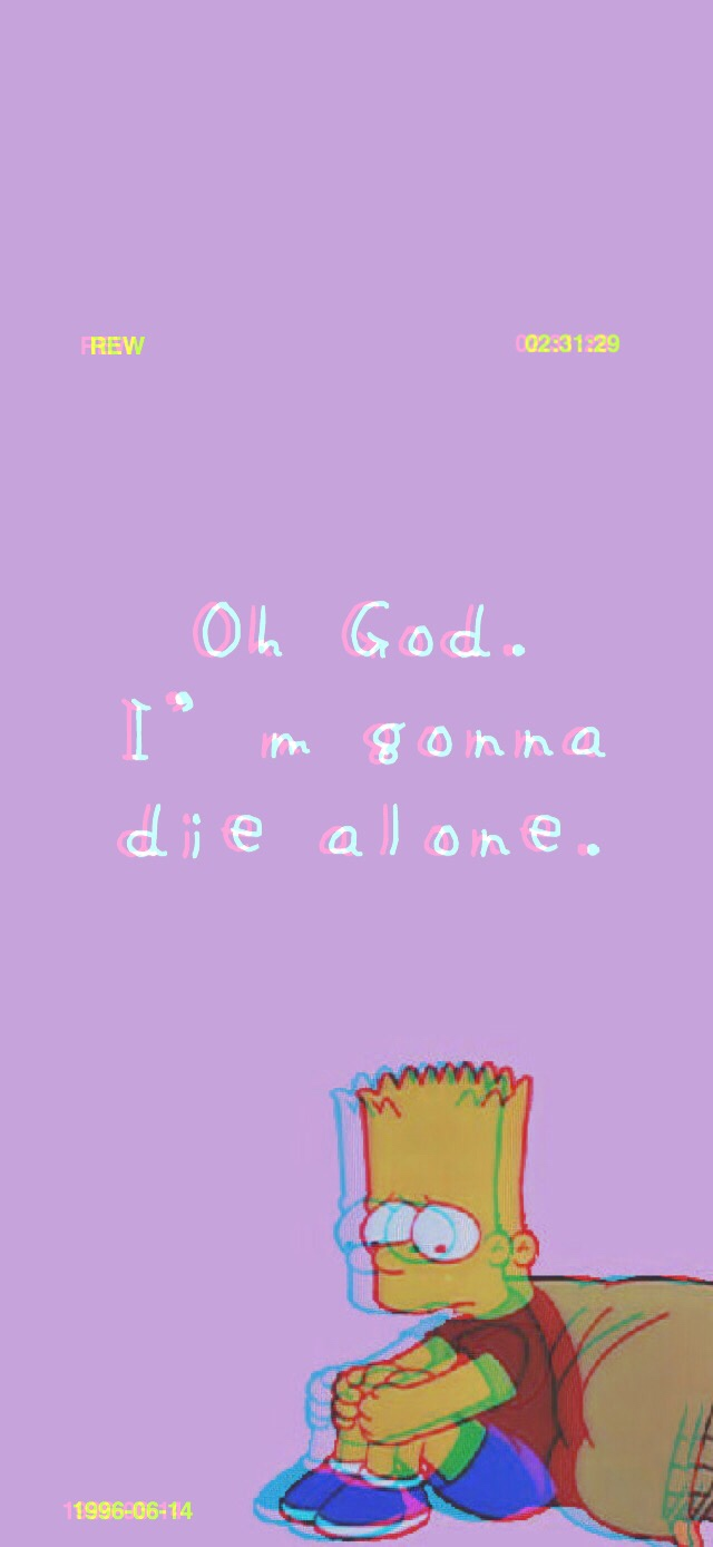 Sad Bart iPhone X Wallpaper   Album on Imgur 640x1388