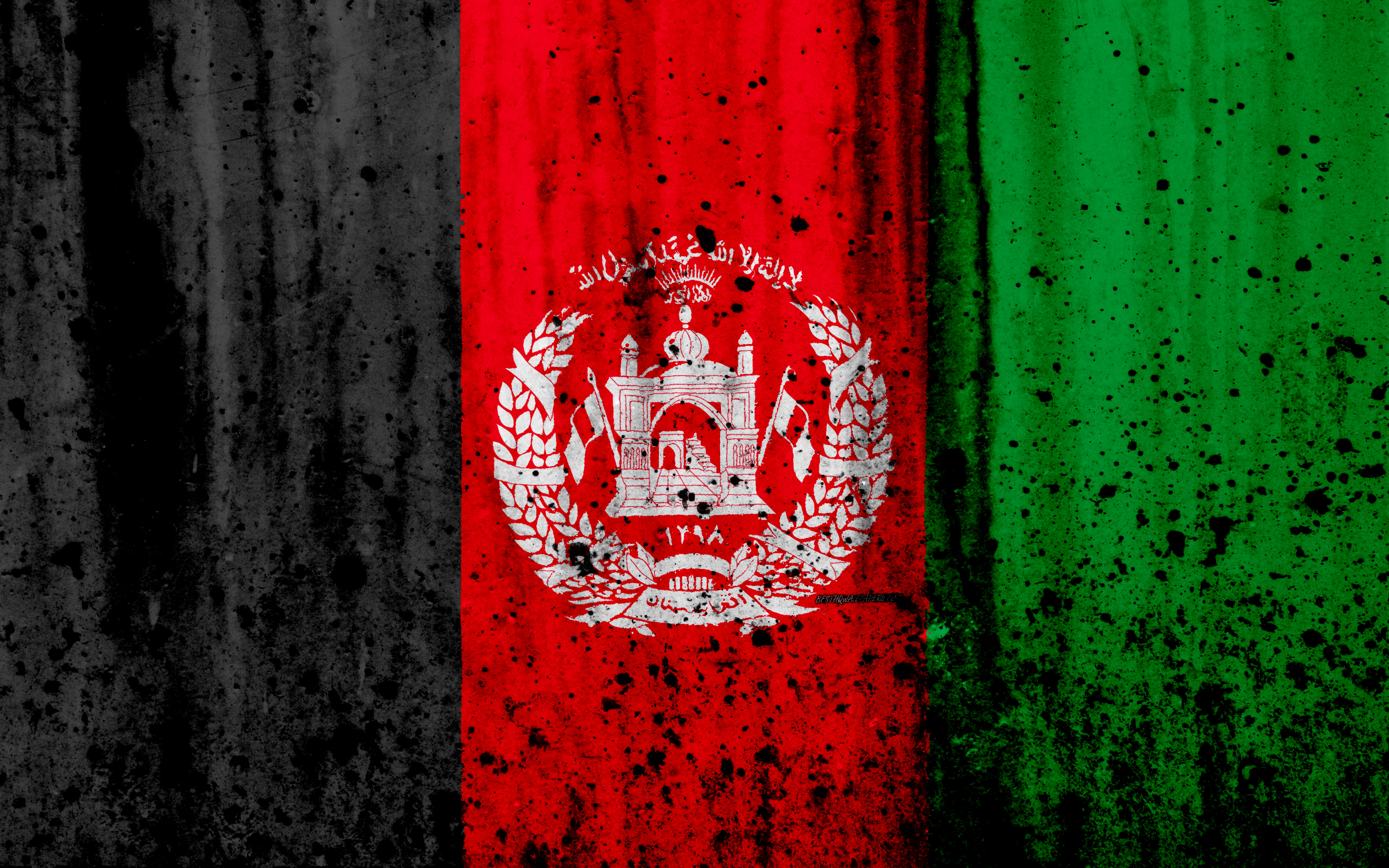Download wallpapers Afghanistan flag 4k grunge flag of 3840x2400