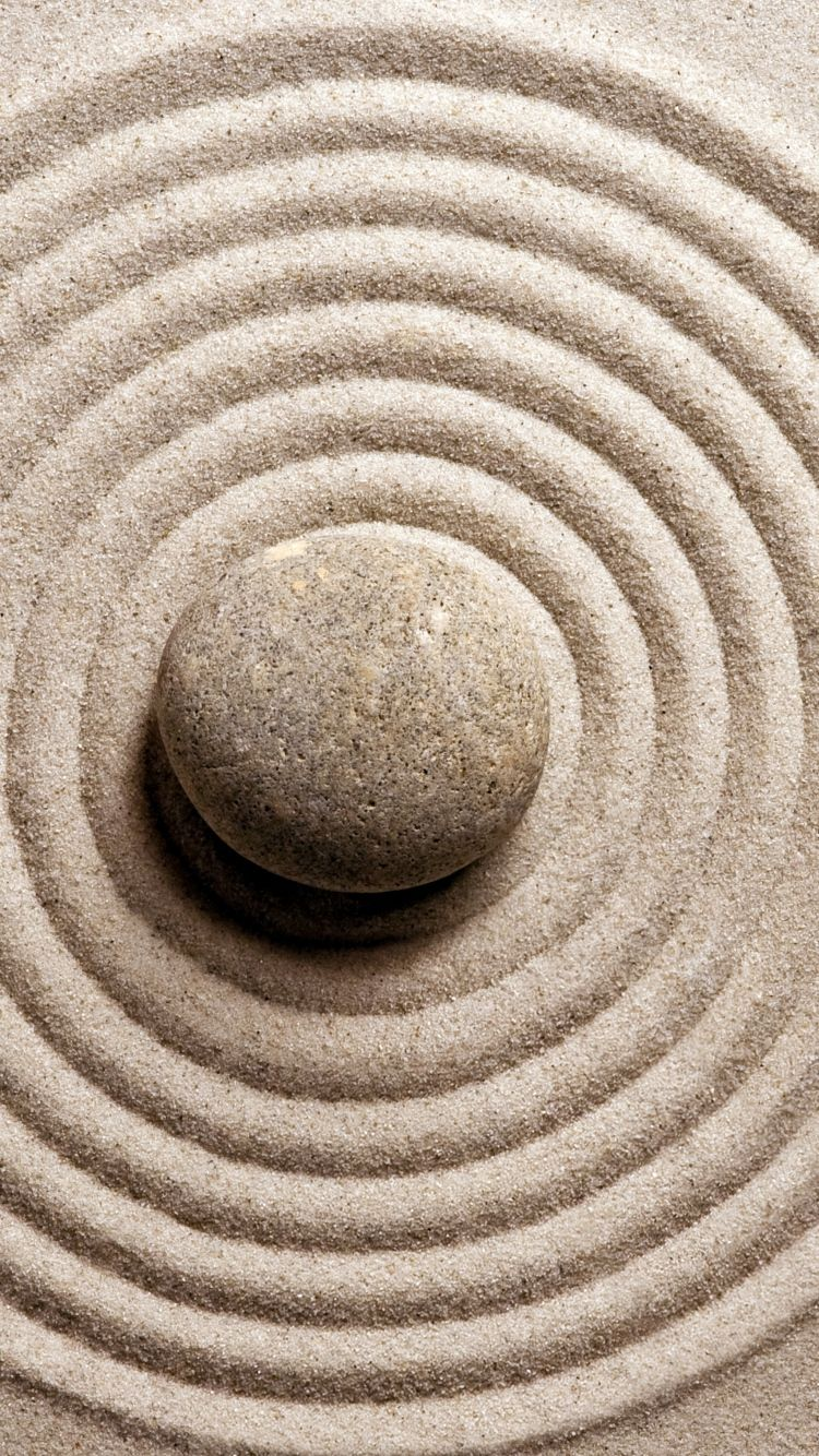 Download Wallpaper 750x1334 Stone Sand Harmony Zen iPhone 6 HD