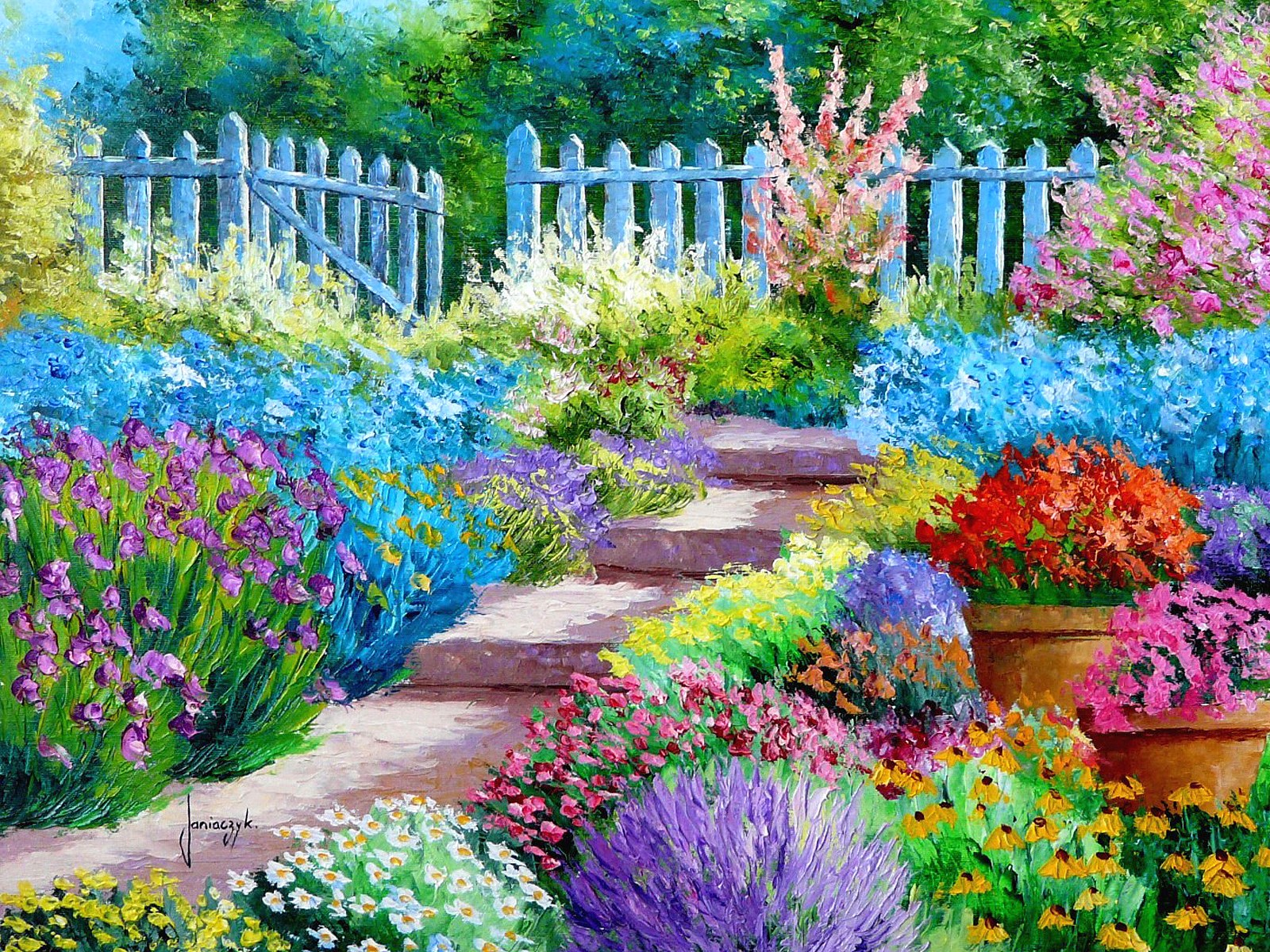 Flower Garden Wallpaper Background flower landscape wallpaper - wallpapersafari