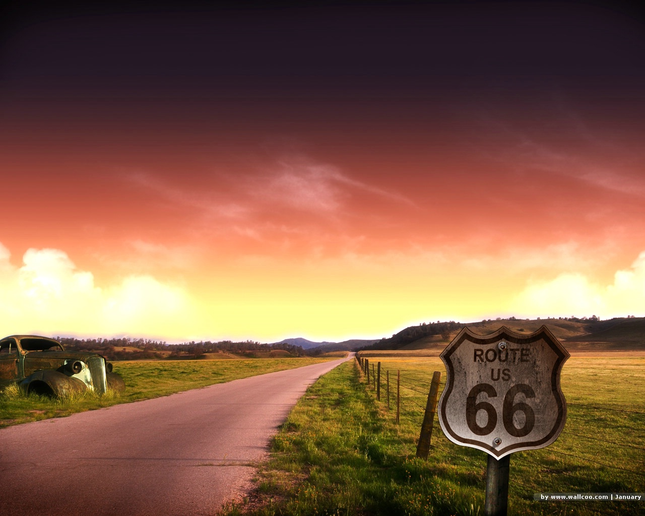 Related Pictures 1680x1050 route 66 desktop pc and mac wallpaper 1280x1024