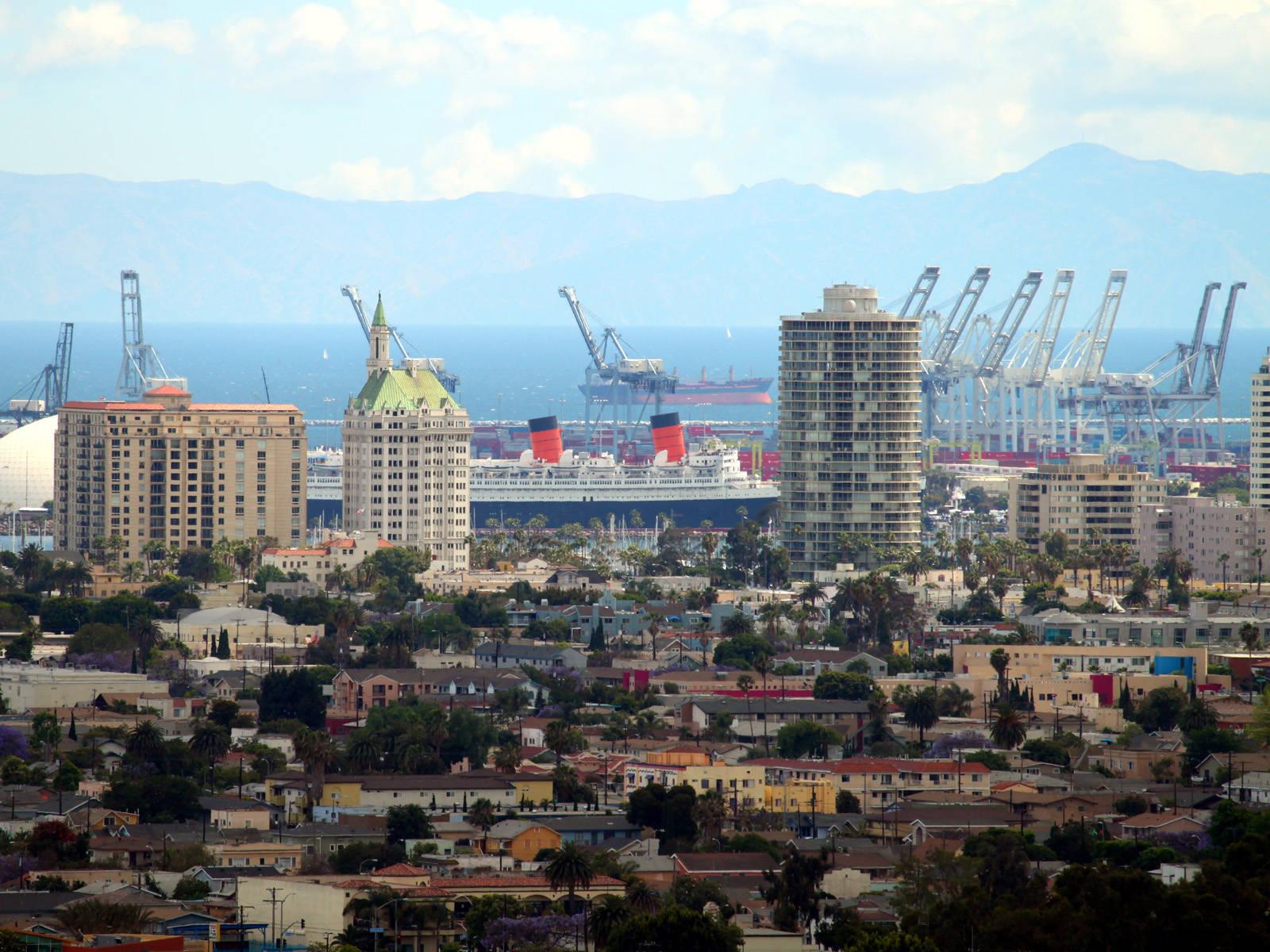 Long Beach CA city view wallpaper city wallpaper