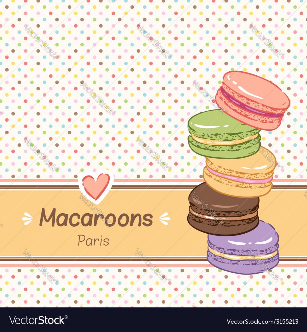 Macarons background Royalty Vector Image   VectorStock 1000x1080