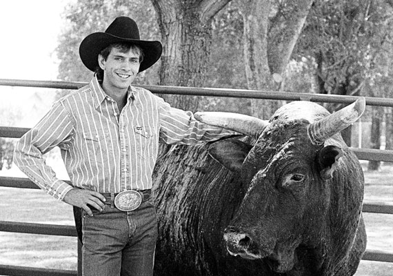 Lane Frost was a rising star in bull riding who won championships at 570x400