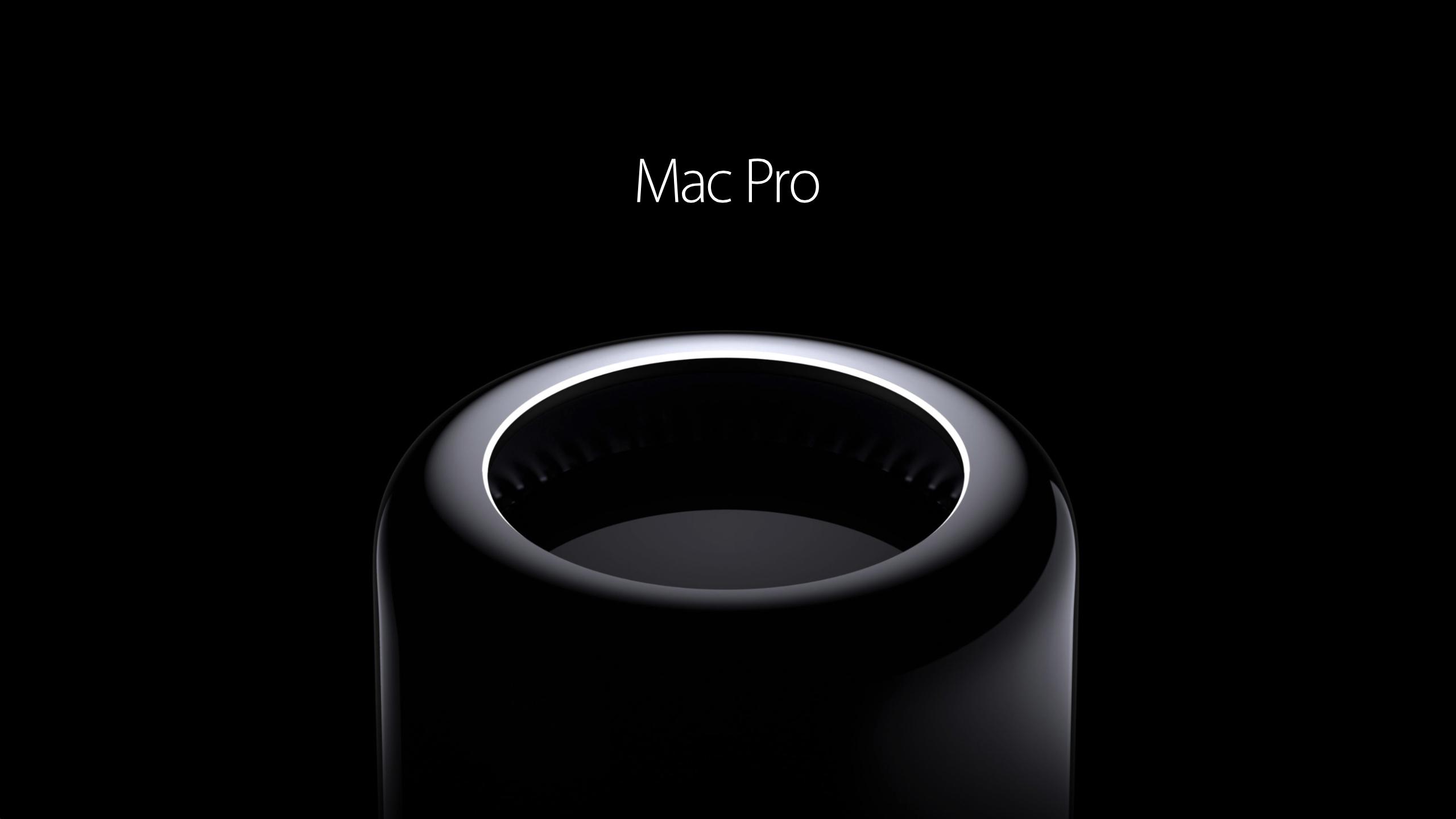 Apple wallpaper Mac Pro 2014 gloss black black background a new 2560x1440