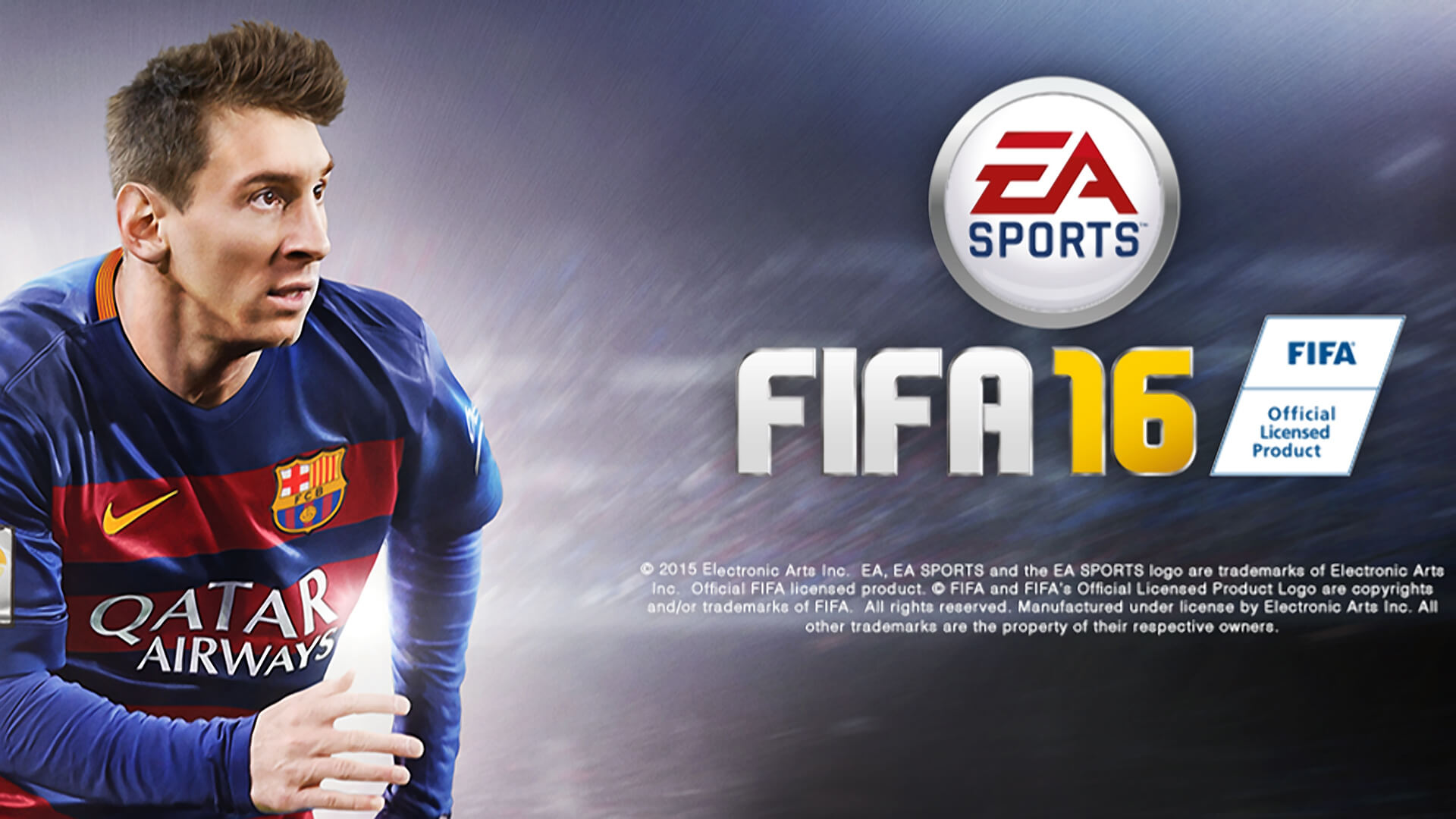 FIFA 16 Leo Messi 2016 Official Cover Poster Wallpaper 1920x1080