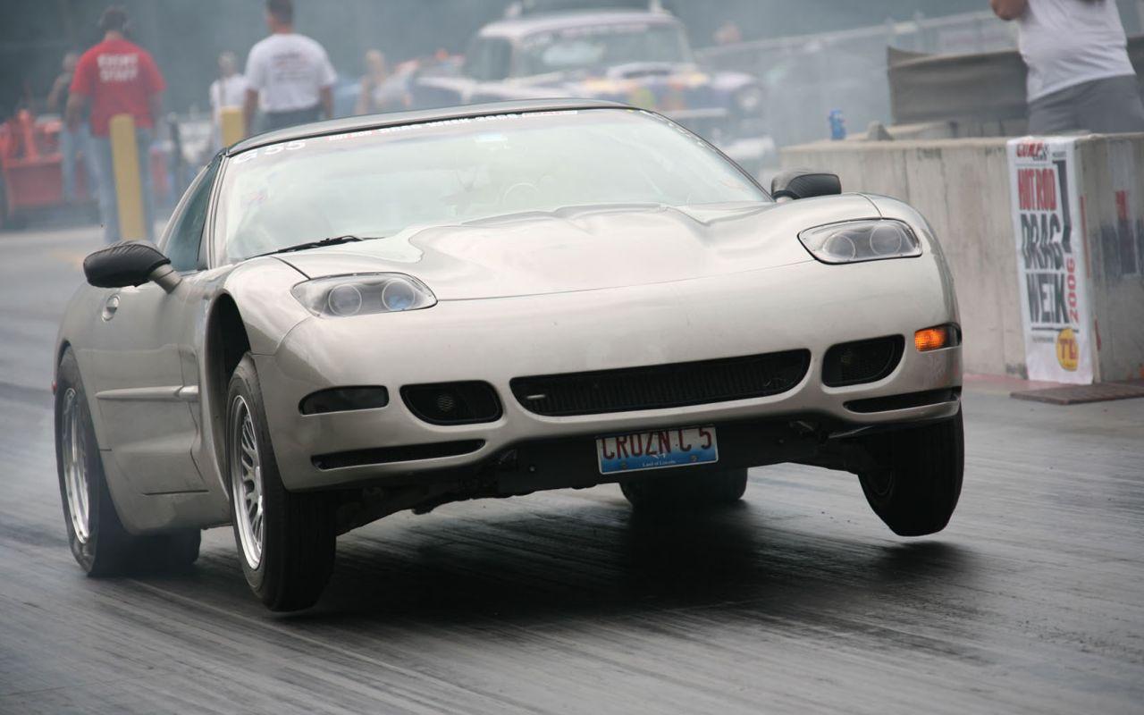 Chevrolet Corvette 2000 Front Drag Race Wallpaper 1280800 1280x800
